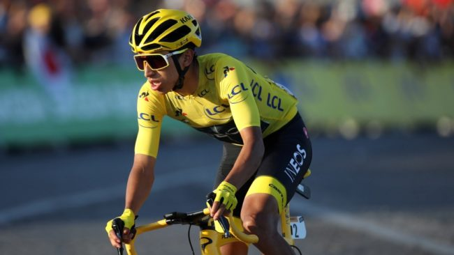 Egan Bernal durante el Tour de Francia.