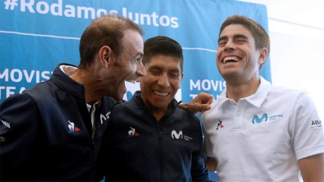 Valverde, Nairo y Landa en su tiempo reciente con el Movistar Team