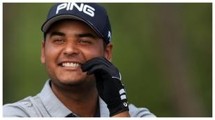 Sebastián Muñoz sonríe tras la tercera vuelta del Sanderson Farm.