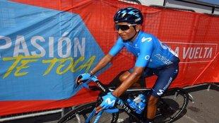 Nairo en la pasada Vuelta a España