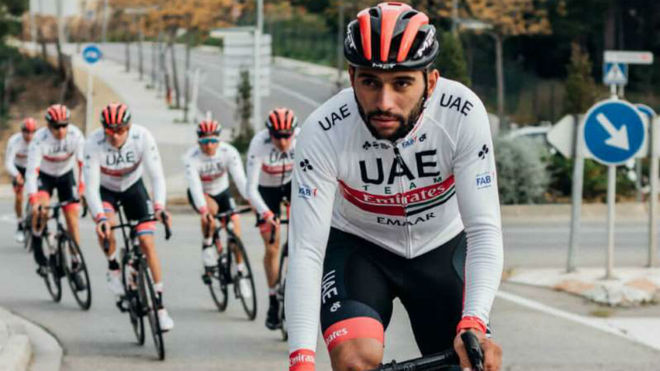 Fernando Gaviria, con el UAE Team Emirates