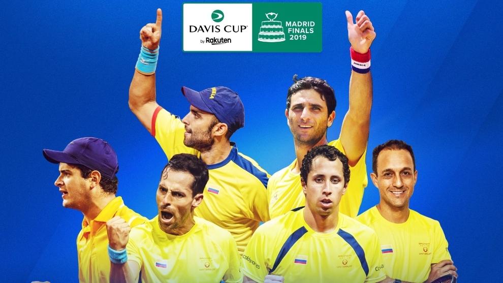Jugadores colombianos que harán parte de la Copa Davis en Madrid
