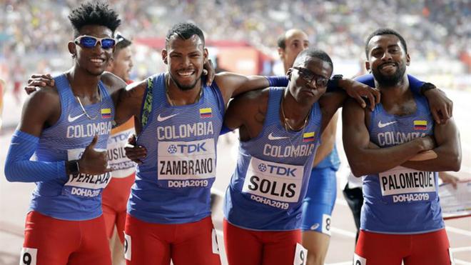 Histórico cuarto lugar de Colombia en el relevo 4x400
