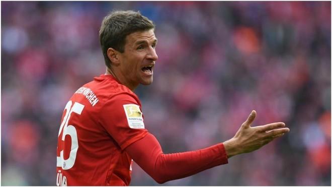 Thomas Müller, delantero del Bayern.