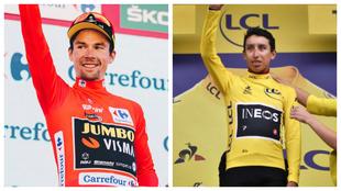 Roglic, campeón de La Vuelta y Egan, en el Tour