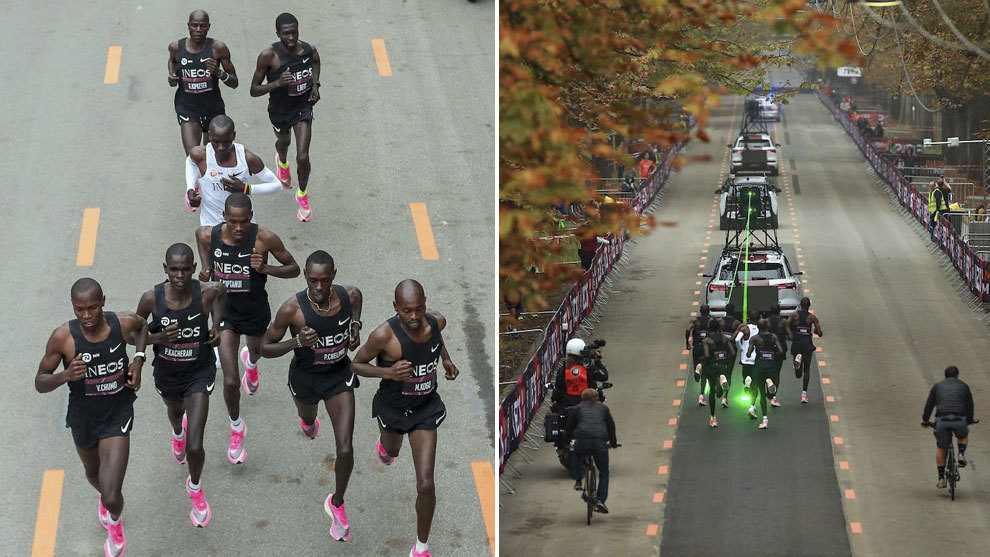 Kipchoge termina maratón en menos de dos horas e impone nuevo récord