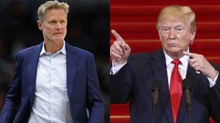 Steve Kerr y Donald Trump