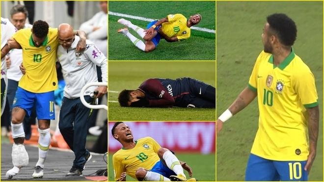 Neymar, un jugador de cristal