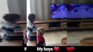 Los hijos del neerlandés encantados con su padre
