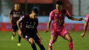 Juanfer tuvo una destacada actuación ante Arsenal de Sarandí.
