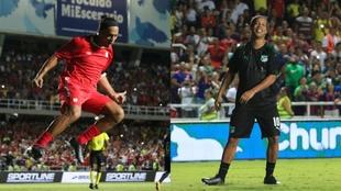Ronaldinho durante el partido de exhibición en el Pascual Guerrero