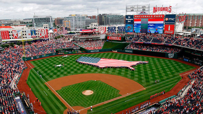 El Nationals Park, casa de los Washington Nationals.