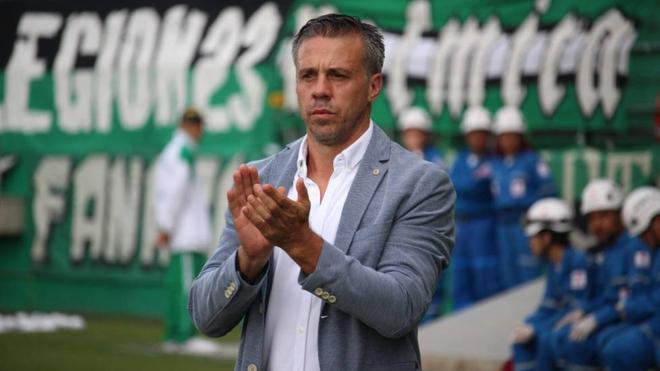 Lucas Pusineri, estratega argentino que dirige al Deportivo Cali.