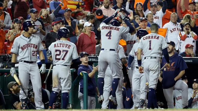Los Astros ganaron los tres juegos en el Nationals Park y tienen todo...
