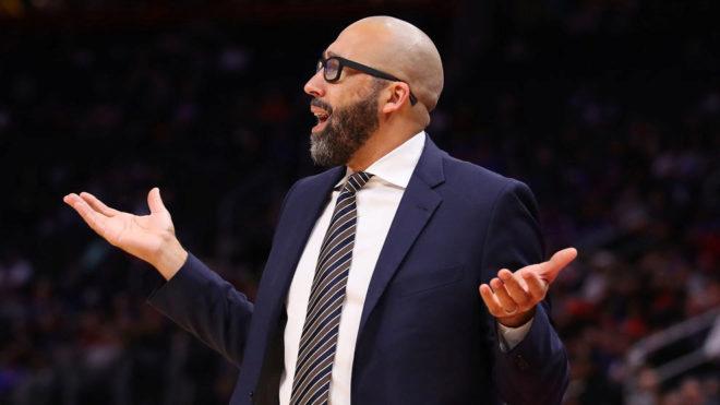 David Fizdale, entrenador de los New York Knicks.
