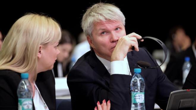 Pável Kolobkov, ministro de Deportes.