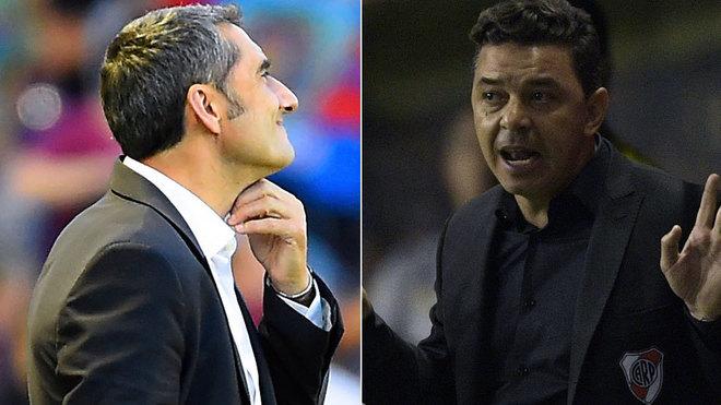 Ernesto Valverde y Marcelo Gallardo.