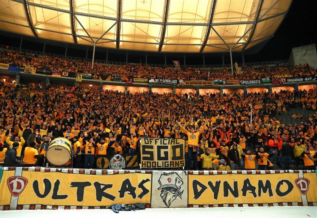 La afición del actual Dynamo Dresden.