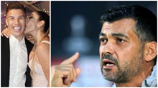 Matheus Uribe y su esposa durante la polémica fiesta | Sérgio...