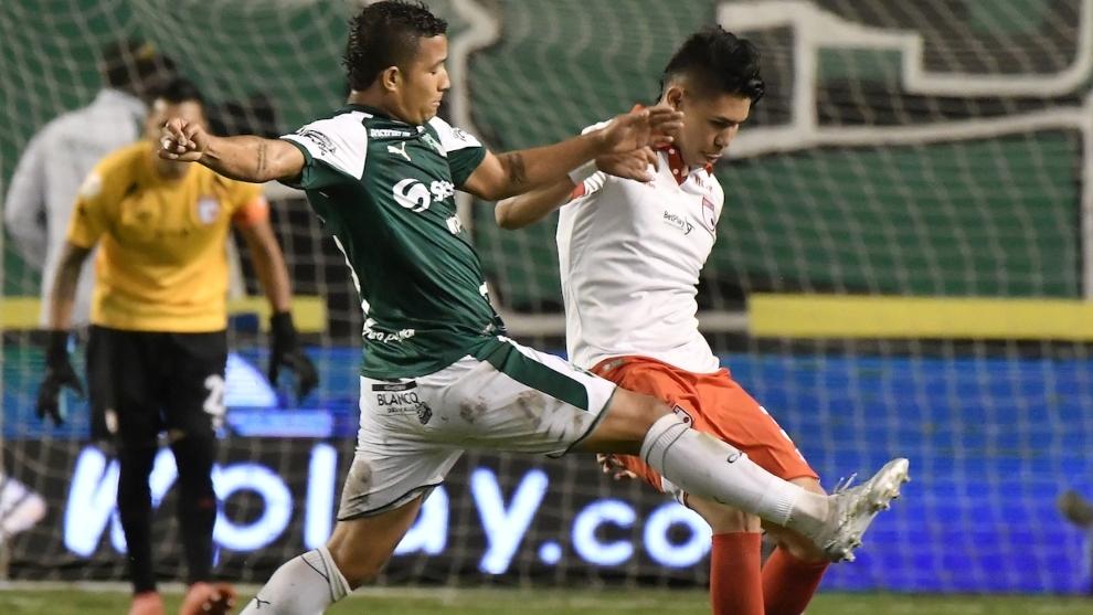 El polémico gesto de Wilmar Roldán con jugador de Deportivo Cali