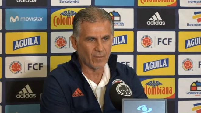 Carlos Queiroz durante la rueda de prensa.