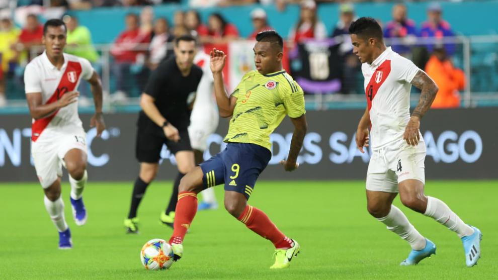 El Búfalo marcó su primer gol con la camiseta de la Selección...
