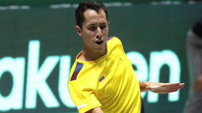 Daniel Galán tuvo un destacado debut en la Copa Davis.