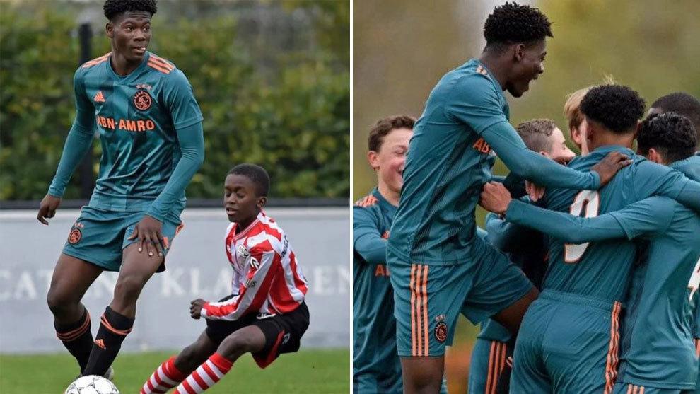 David Easmon, el gigante de la cantera del Ajax: mide 1,90 y sólo tiene 14 años - Marca Claro Colombia