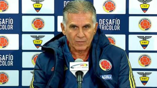 Carlos Queiroz durante la conferencia de prensa.