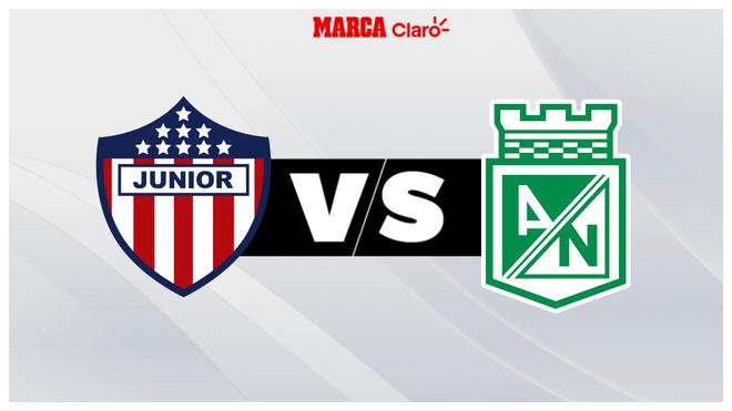 Junior vs Nacional, horario y dónde ver por tv.