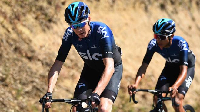 Froome y Bernal en sus tiempos de Team Sky.