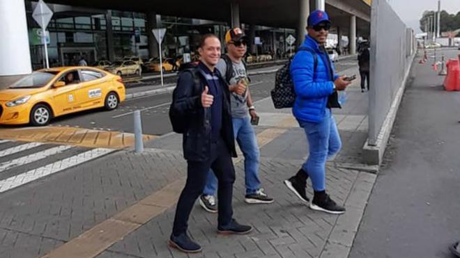 Román Torres arribó este viernes a Bogotá.