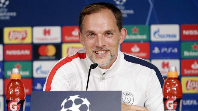 Tuchel en rueda de prensa previo al partido contra el Real Madrid por...