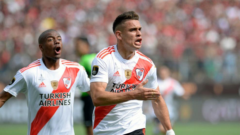 Ante Flamengo fue su partido 100 con River Plate.