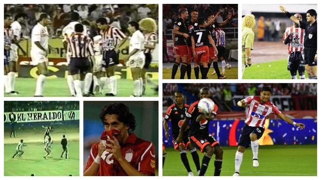Varias imágenes de los juegos entre América y Junior.