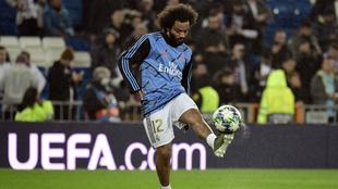 Marcelo hace pinolas previo a un juego con el Real Madrid.