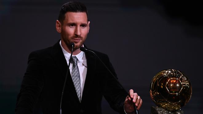 Leo Messi durante la reciente gala del Balón de Oro.