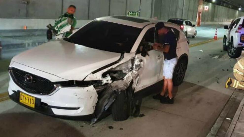 Jarlan Barrera y Brayan Rovira, ilesos tras accidente de tránsito