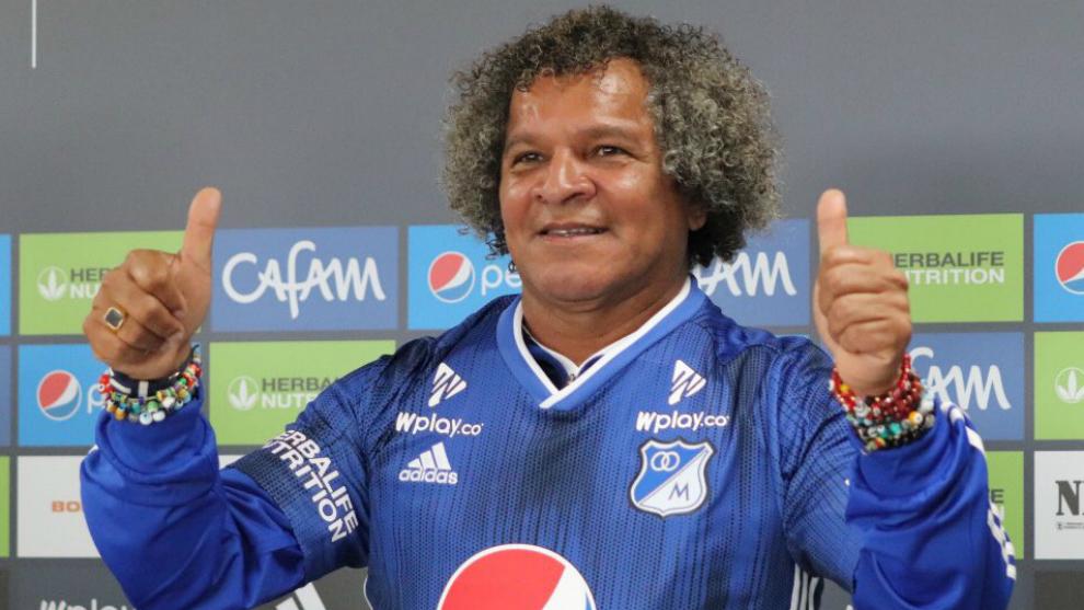 Alberto Gamero durante su presentación como técnico de Millonarios