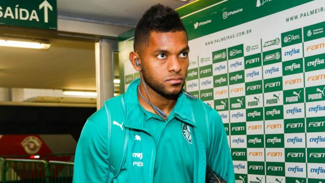 Miguel Ángel Borja no ha tenido mucha regularidad en el Palmeiras.