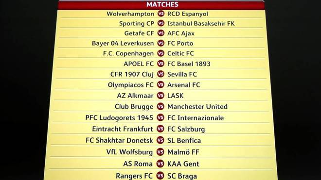 Todos los cruces de la Europa League.