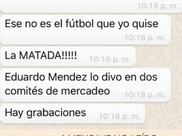 Presunta conversación entre Pineda y Ramón Jesurun