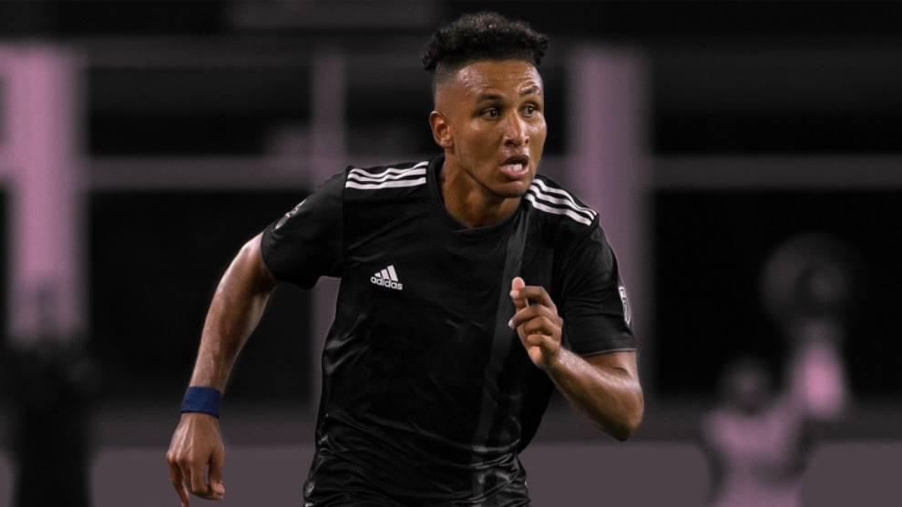 Agudelo, en un partido en la MLS.