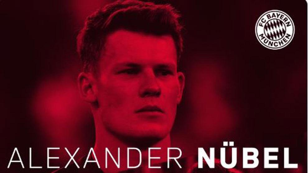 Anuncio del Bayern Múnich sobre la contratación de Nubel.