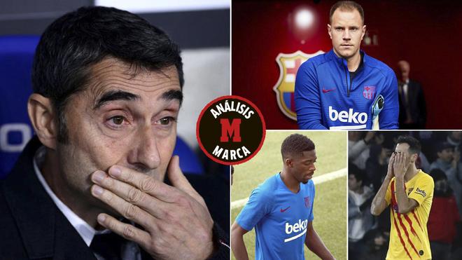 Barcelona, con problemas serios