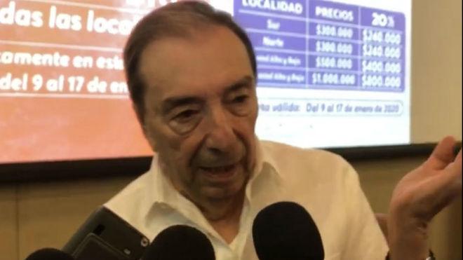 Fuad Char comparece ante los medios tras la presentación de los...