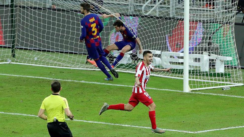 Atlética remontada para eliminar al Barcelona
