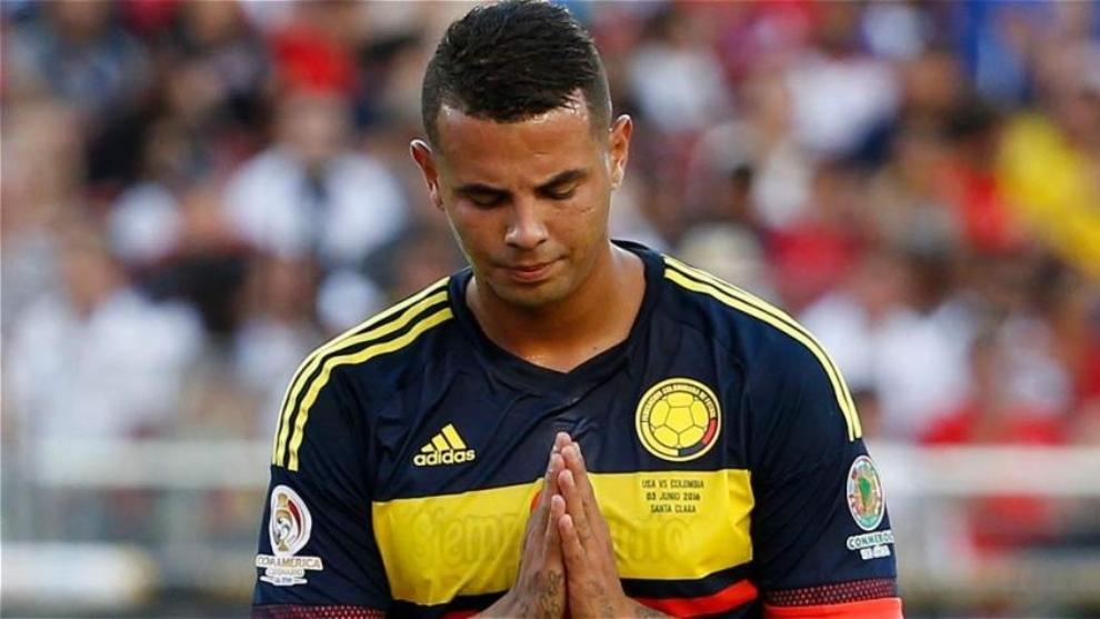 Cardona, con la Selección Colombia.
