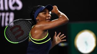 Venus Williams durante su reciente juego ante Coco Gauff.