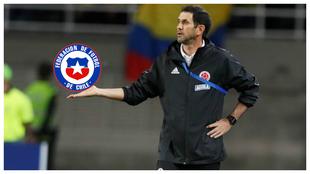 Arturo Reyes durante el encuentro ante la selección venezolana.